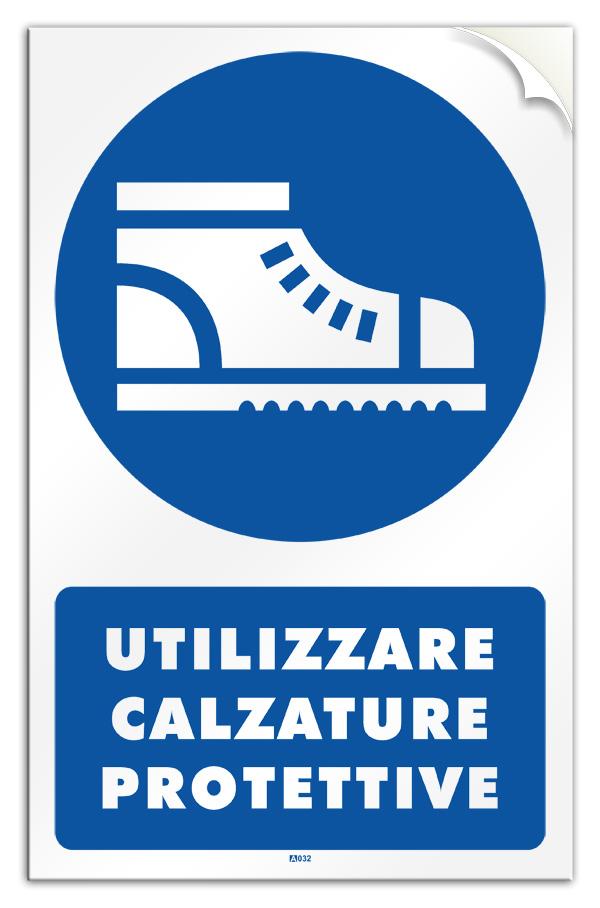 """Cartello PVC adesivo /""""Obbligo uso occhiali o schermi protettivi/"""" legge 626"""