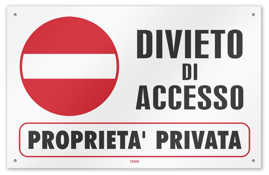Proprieta privata cartelli